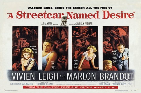 A Streetcar Named Desire, 1951 Stretched Canvas Print