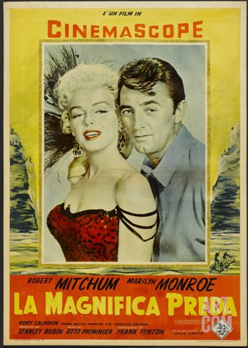 River of No Return, Italian Movie Poster, 1954 Stretched Canvas Print