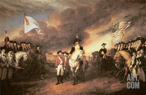Surrender of Cornwallis at Yorktown, 19 October 1781 Stretched Canvas Print