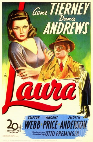 Laura, 1944 Stretched Canvas Print