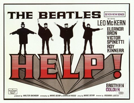 Help!, 1965 Stretched Canvas Print