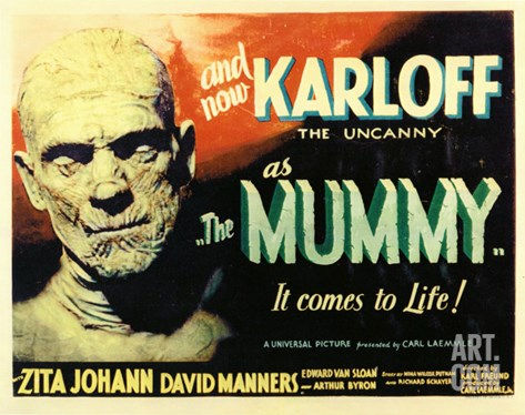 The Mummy, 1932 Stretched Canvas Print