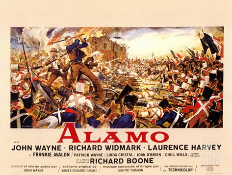 The Alamo, 1960 Stretched Canvas Print