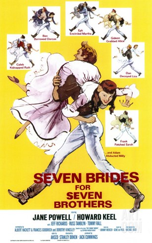 Seven Brides for Seven Brothers, 1954 Stretched Canvas Print