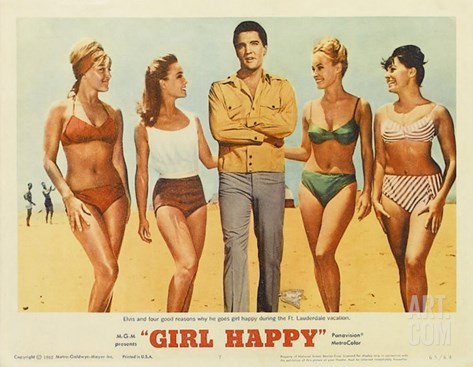 Girl Happy, 1965 Stretched Canvas Print