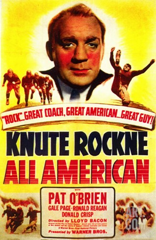 Knute Rockne All American, 1940 Stretched Canvas Print