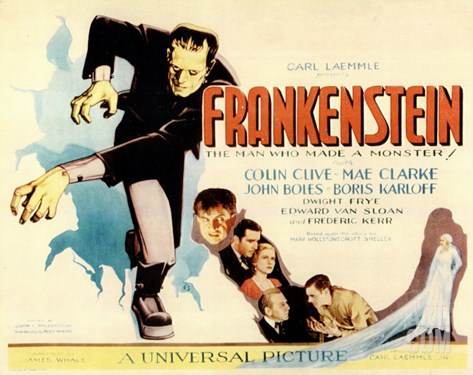 Frankenstein, 1931 Stretched Canvas Print