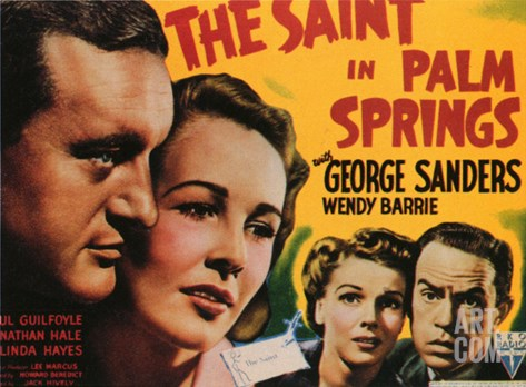 The Saint in Palm Springs, 1941 Stretched Canvas Print