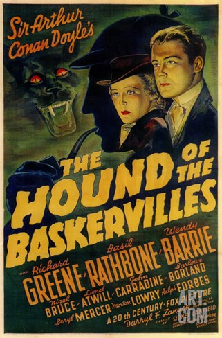 The Hound of The Baskervilles, 1939 Stretched Canvas Print