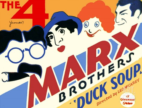 Duck Soup, 1933 Stretched Canvas Print