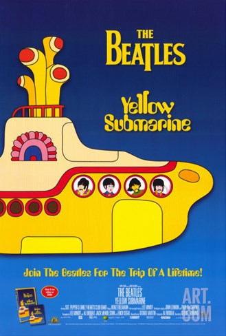 Yellow Submarine, 1968 Stretched Canvas Print