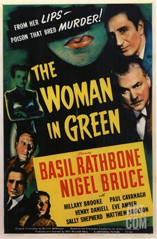 The Woman in Green, 1945 Stretched Canvas Print