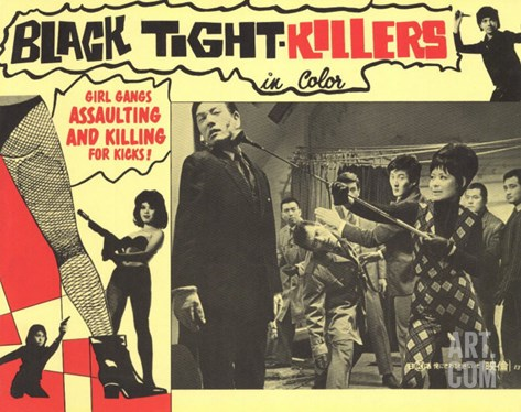 Black Tight Killers, 1968 Stretched Canvas Print