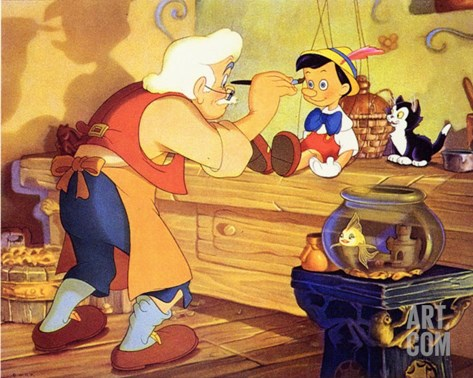 Pinocchio, 1940 Stretched Canvas Print