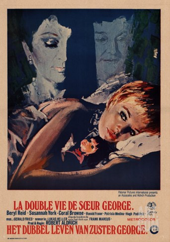 The Killing of Sister George, Belgian Movie Poster, 1969 Stretched Canvas Print