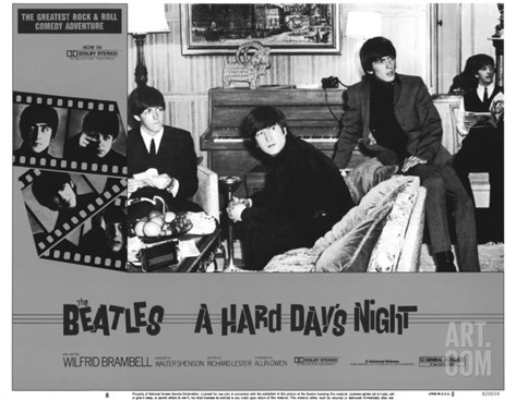 A Hard Day's Night, 1964 Stretched Canvas Print