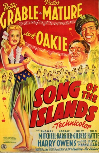 Song of the Islands, 1942 Stretched Canvas Print