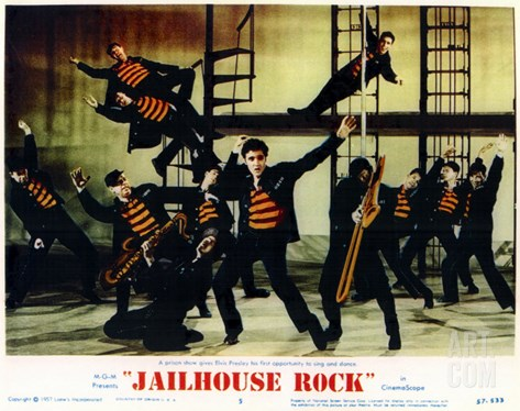 Jailhouse Rock, 1957 Stretched Canvas Print