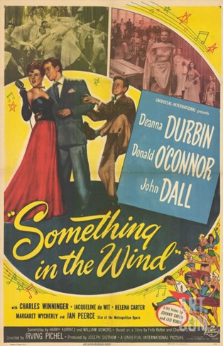 Something In The Wind, 1947 Stretched Canvas Print