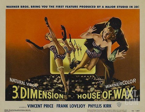 House of Wax, 1953 Stretched Canvas Print