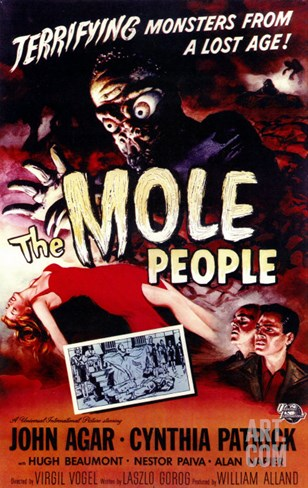 The Mole People, 1956 Stretched Canvas Print