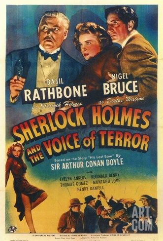 Sherlock Holmes and the Voice of Terror Stretched Canvas Print