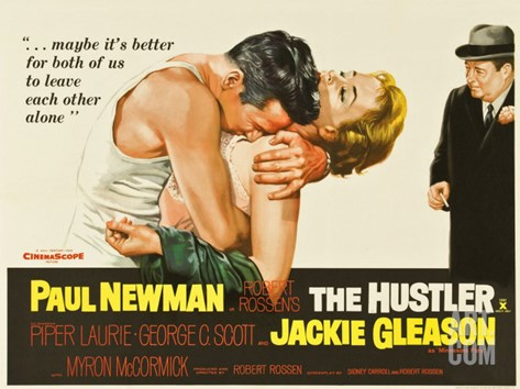 The Hustler, UK Movie Poster, 1961 Stretched Canvas Print