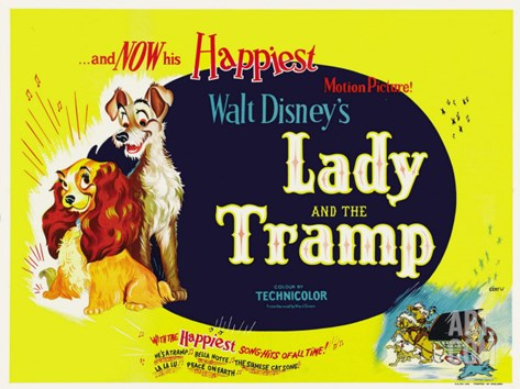 Lady and the Tramp, 1955 Stretched Canvas Print