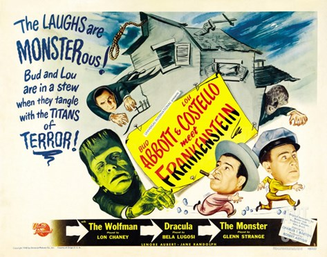 Bud Abbott Lou Costello Meet Frankenstein, 1948 Stretched Canvas Print