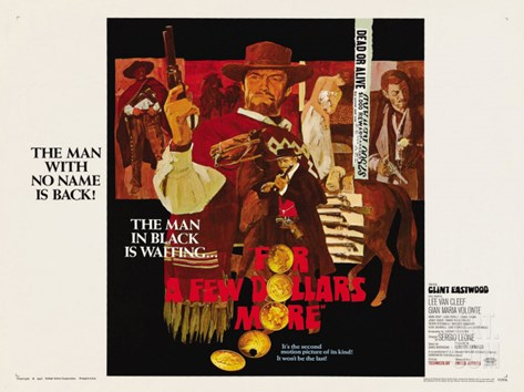 For a Few Dollars More, 1966 Stretched Canvas Print