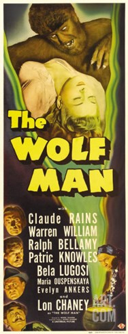 The Wolf Man, 1941 Stretched Canvas Print