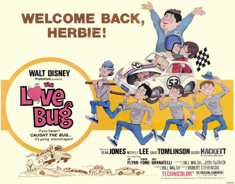 The Love Bug, 1969 Stretched Canvas Print