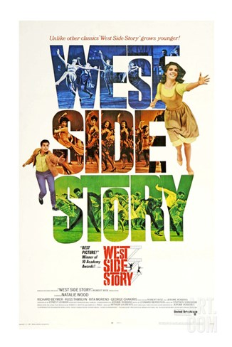West Side Story, 1961 Stretched Canvas Print