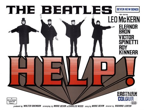 Help!, UK Movie Poster, 1965 Stretched Canvas Print