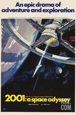 2001: A Space Odyssey, 1968 Stretched Canvas Print