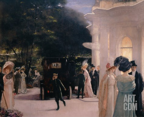 A Soiree at Pre-Catelan, detail, 1909 Stretched Canvas Print