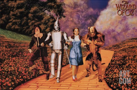 The Wizard of Oz, 1939 Stretched Canvas Print