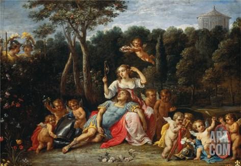 Armida's Garden Stretched Canvas Print