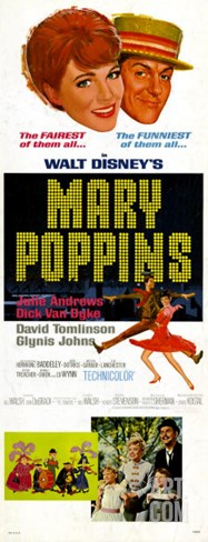 Mary Poppins, 1964 Stretched Canvas Print