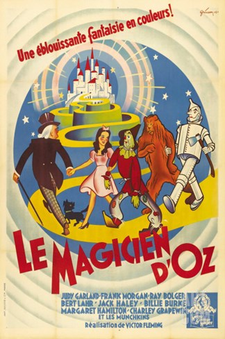 The Wizard of Oz, French Movie Poster, 1939 Stretched Canvas Print