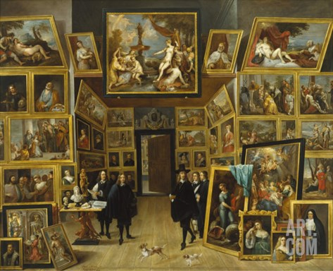The Gallery of Archduke Leopold Wilhelm Stretched Canvas Print