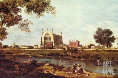 Eton College Stretched Canvas Print