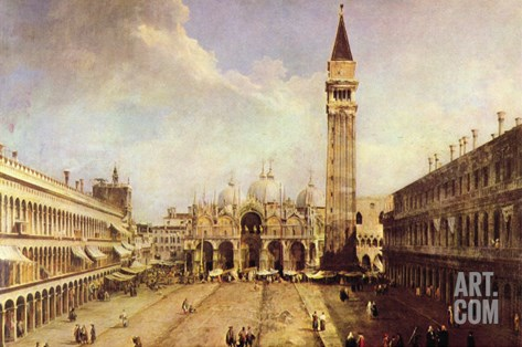 Piazza San Marco Stretched Canvas Print
