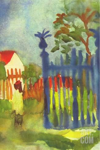 Garden Gate Stretched Canvas Print