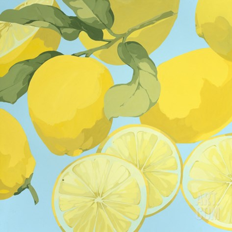 Fresh Lemons Stretched Canvas Print