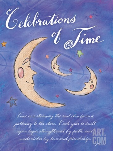Celebrations of Time Stretched Canvas Print