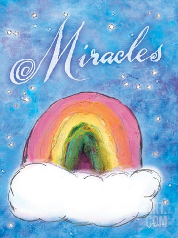 Rainbow of Miracles Stretched Canvas Print
