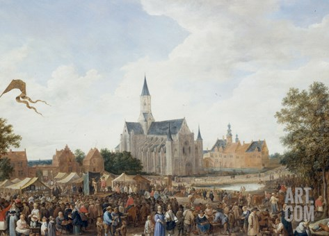 The Potters' Fair at Ghent Stretched Canvas Print