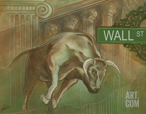 Bull Market Stretched Canvas Print