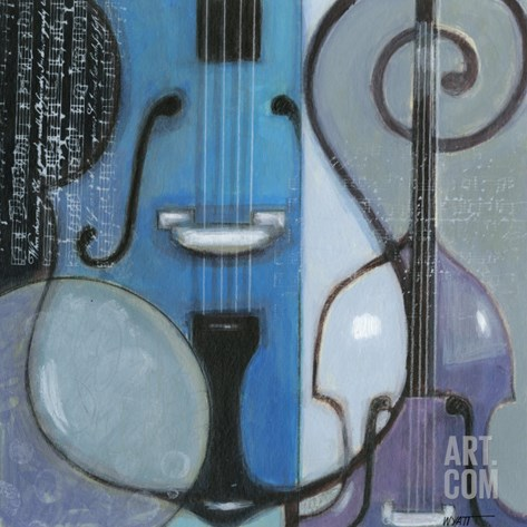 Cool Jazz II Stretched Canvas Print